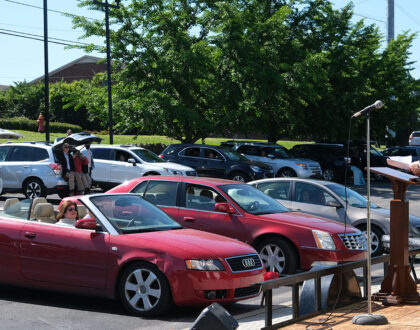 Drive-in services 9:30 & 10:45 A.M. this Sunday